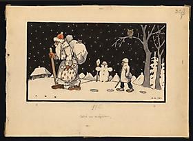 Рисунки и картины А.Кроненбергса. По дороге домой