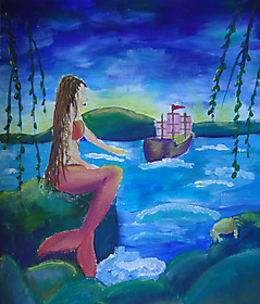 Варвара Гриценко, 13 лет, рисунок «Русалочка»