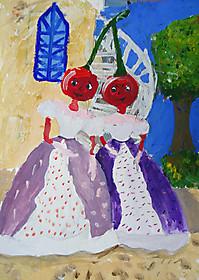 Виктория Пасечник, 9 лет, рисунок «Графини Вишенки»